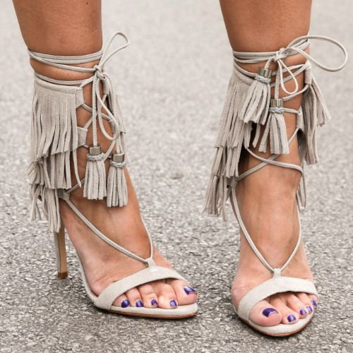 Black-Grey-Suede-Ankle-Tie-Lace-Up-Fringe-Sandals-High-Heels-Tassel-Gladiator-Sandals-Women-Shoes