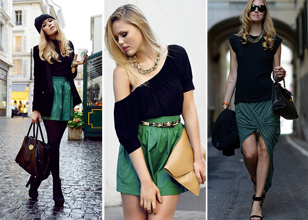 black-and-green